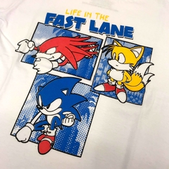 Remera para Chicos Sonic The Hedgehog Life In The Fast Lane Oficial - comprar online