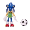 Figura Sonic The Hedgehog Flexible Modern Sonic + Soccer Ball Jakks