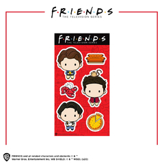 Stickers Vinílicos Friends Chibis Chandler, Ross & Joey Oficial