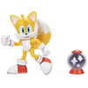 Figura Sonic The Hedgehog Articulada Modern Tails + Invincible Item Box Jakks