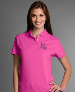 Playera Polo Rosa LashGirl 1 pestañas  Bordada