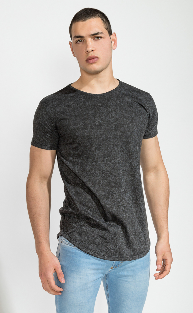 Maxi Tshirt- washed black