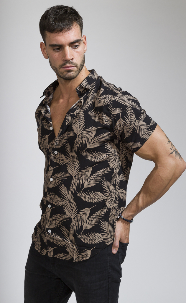 Flowy shirt - Camel leaves - buy online