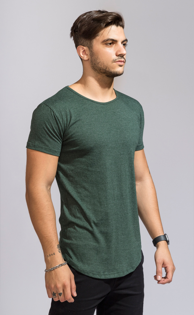 Maxi tshirt - Emerald green en internet