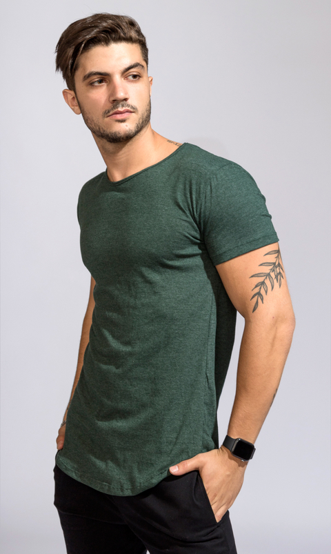 Maxi tshirt - Emerald green