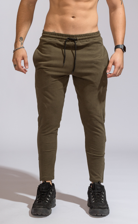 Zipper cotton jogger -  Army en internet