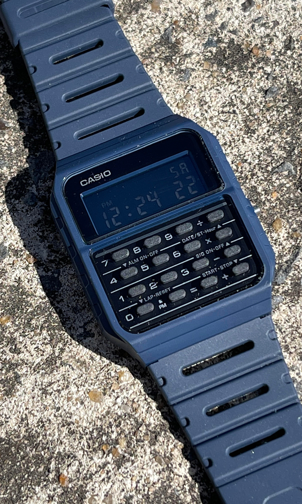 Casio vintage - Calculator CA-53WF-2BCF Blue