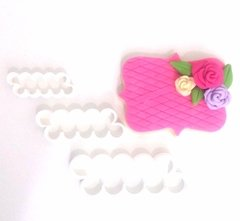 SET CORTANTE 3D MINI ROSA FACIL X3