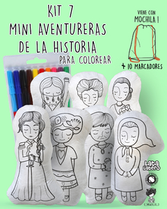 SET 7 (TODAS) MINI AVENTURERAS PARA COLOREAR