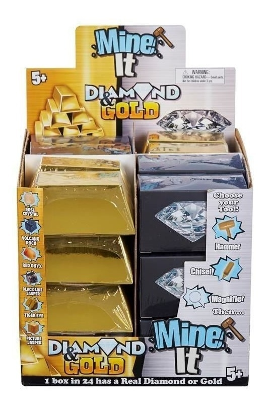 Caja x 24 Juego Mine It Gold Diamons Oro y Diamante