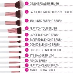 BH Cosmetics - Crystal Quartz 12 Piece Brush Set - comprar online