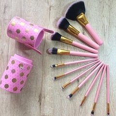 BH Cosmetics - Dot Collection 11 Piece Brush Set Pink en internet