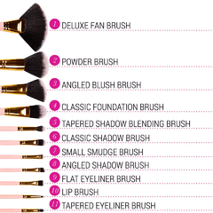 BH Cosmetics - Dot Collection 11 Piece Brush Set Pink - Beauty Charmy