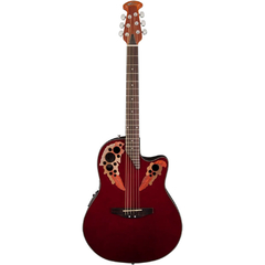 Ovation AE44-RR Applause Elite Acoustic/Electric Guitar (Ruby Red)