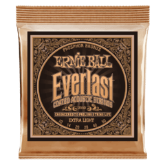ERNIE BALL 12-54 EVERLAST MEDIUM LIGHT COATED 80/20 BRONZE ACOUSTIC GUITAR STRINGS - 2550
