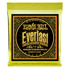 Ernie Ball 12-54 Everlast medium light coated 80/20 bronze acoustic guitar strings - 2556