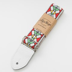 HIPSTRAP STAINED GLASS RED CORREA PARA GUITARRA Y BAJO