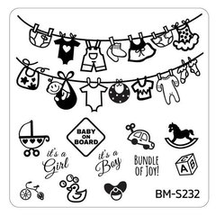 Bundle Monster Nail Art Stamping Plates- BM-S232