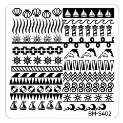 Bundle Monster Nail Art Stamping Plates- BM-S402