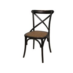 Silla Equis Cross Antique Rattan Negra