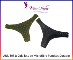 Art. 3031: Cola Less de lycra con puntitos dorados