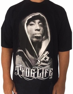 Camiseta rap power tupac touca