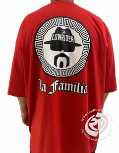 Camiseta rap power low rider la familia