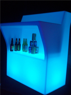 BARRA BILLY CENTRAL CON ESTANTE LED