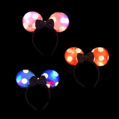 VINCHA MOÑO MINNIE LUNARES LED