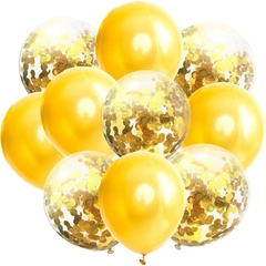 Set 10 Globos Latex + Globos con Confetti en internet