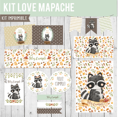 KIT IMPRIMIBLE - KIT LOVE MAPACHE