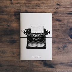 monthly planner Vincent Cousteau tapa typewriter