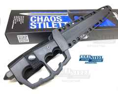 COLD STEEL Puñal con Manopla CHAOS STILETTO 3 Filos