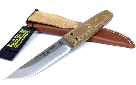 TOPS Cuchillo Bushcraft Tanimboca Puukko Puko Original MADE IN USA