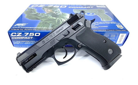 Pistola Airsoft Spring Asg Cz 75d Compact 6mm En Stock