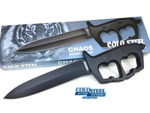 COLD STEEL Cuchillo con Manopla CHAOS DOUBLE EDGE ORIGINAL