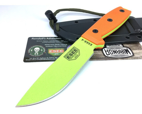 Cuchillo Esee Usa 4p-vg Venom Green Original Nuevo En Stock