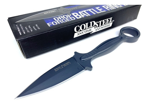 COLD STEEL Cuchillo Forjado DROP FORGED BATTLE RING Original