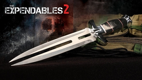 UNITED Cuchillo Oficial de Expendables 2 Indestructibles 2 Doble Shadow ORIGINAL