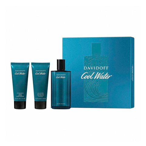 Cool Water Men EDT 125 ml + Shoer Gel 75 ml + After Shave 75 ml - Eau de Toilette