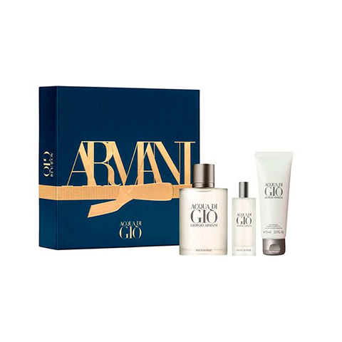 acqua Di Gio EDT 100 ml + EDT 15 ml + Shower Gel 75 ml - Eau de Toilette