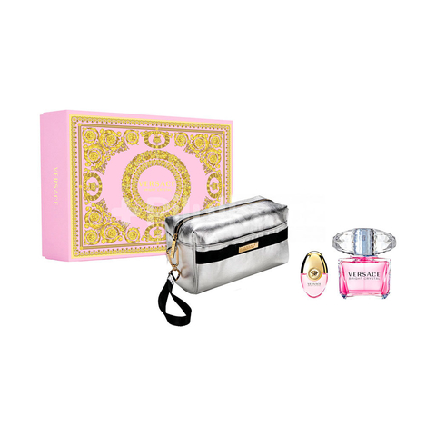 Versace Bright Crystal EDT 90 ml + EDT 10 + Pouch - Eau de Toilette