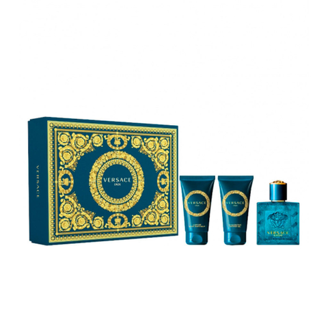 Versace Eros EDT 50 ml + After Shave 50 ml + Shower Gel 50 ml - Eau de Toilette