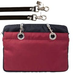 Image of NAVY BLUE / CERISE 15-INCH SUNDAR LAPTOP BAG