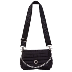 ANDREA CROSSBODY BLACK WITH TWO STRAPS (CHAIN STRAP/ ADJUSTABLE STRAP) on internet