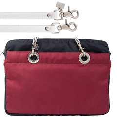 NAVY BLUE / CERISE 15-INCH SUNDAR LAPTOP BAG - Bolsas Sundar Originales