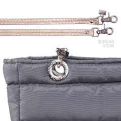 GRAY SUNDAR, TOP ZIPPER, SHOULDER BAG - Bolsas Sundar Originales