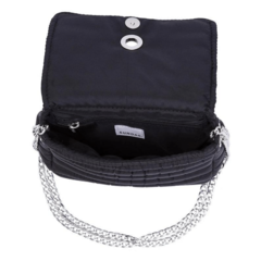 Image of ANDREA CROSSBODY BLACK WITH TWO STRAPS (CHAIN STRAP/ ADJUSTABLE STRAP)