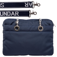 NAVY BLUE 15-INCH SUNDAR LAPTOP BAG - Bolsas Sundar Originales