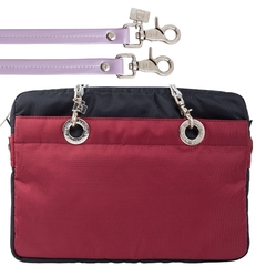 NAVY BLUE / CERISE 15-INCH SUNDAR LAPTOP BAG